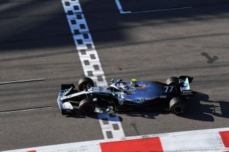 Valtteri Bottas, Mercedes AMG F1, 2nd position, crosses the line