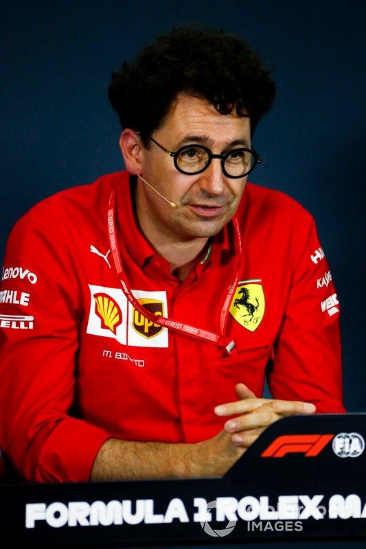 Mattia Binotto, Team Principal Ferrari, in the Press Conference