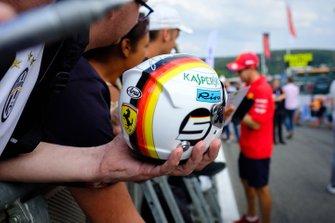 Helmet replica of Sebastian Vettel, Ferrari