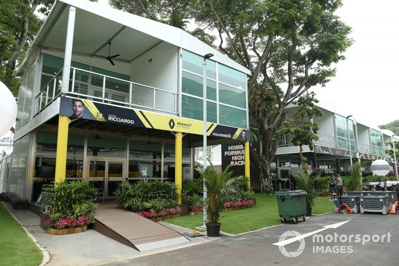 The Renault hospitality area