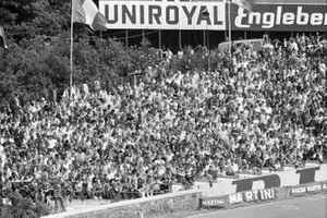 Fan sulle tribune alla gara di domenica del GP del Belgio