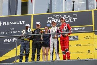 Podio: Oscar Piastri, R-ACE GP, Victor Martins, MP Motorsport, Sebastian Fernandez, Arden