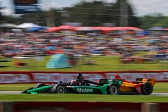 Felix Rosenqvist, Chip Ganassi Racing Honda, Ryan Hunter-Reay, Andretti Autosport Honda