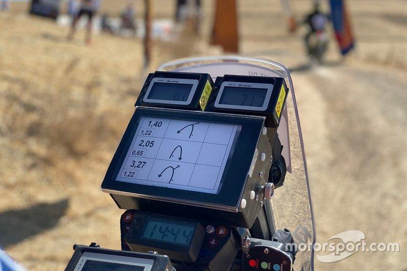 Roadbook en el Rally de Marruecos
