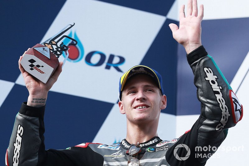 Podio: il secondo classificato Fabio Quartararo, Petronas Yamaha SRT