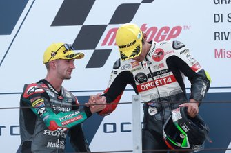 Podium: race winner Tatsuki Suzuki, SIC58 Squadra Corse, second place John McPhee, SIC Racing Team