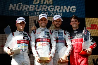 Podium: Race winner Jamie Green, Audi Sport Team Rosberg, second place Robin Frijns, Audi Sport Team Abt Sportsline, third place René Rast, Audi Sport Team Rosberg