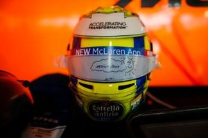 The helmet of Lando Norris, McLaren