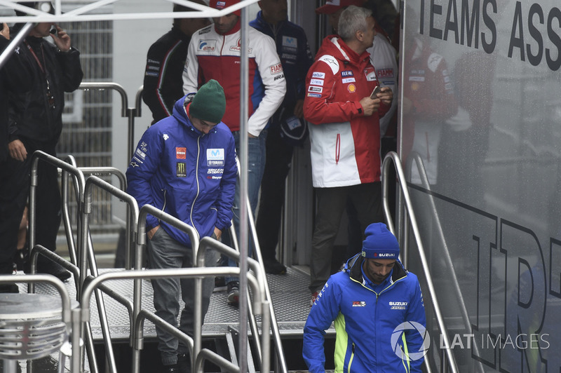 Maverick Viñales, Yamaha Factory Racing, leaving Safety commission meeting