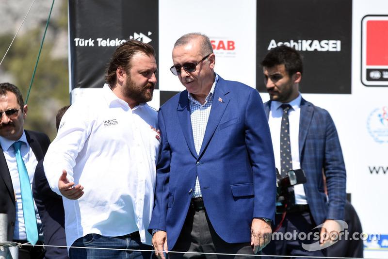 Serkan Yazıcı, TOSFED President, Recep Tayyip Erdoğan, President of Turkey