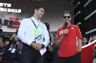 Sebastian Vettel, Ferrari and Vitaly Petrov