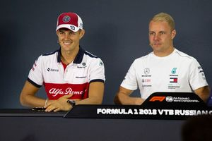Marcus Ericsson, Sauber and Valtteri Bottas, Mercedes AMG F1 in the press conference