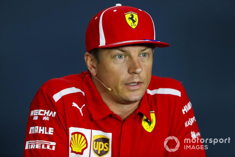 """Kimi Raikkonen: """"Na maioria das vezes tivemos que seguir outros carros e tomar cuidado para não desgastar os pneus. Acho que tinha uma boa velocidade, mas quando você está em um circuito onde é difícil ultrapassar, você não pode aproveitar ao máximo"""""""