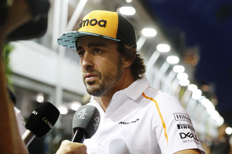 Fernando Alonso, McLaren, talks to Channel 4 TV