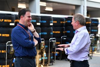 James Allen, President, Motorsport Network and Martin Brundle, Sky TV