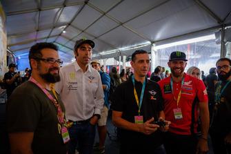 Nani Roma, Alex Haro y Pedro Bianchi en la presentación de 'Dakar 18'