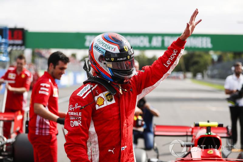 Kimi Raikkonen, Ferrari SF71H, asegura la pole position