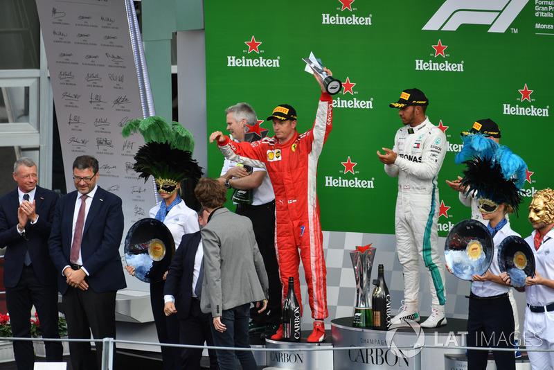 Suasana podium GP Italia