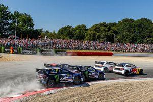 Andreas Bakkerud, EKS Audi Sport leads