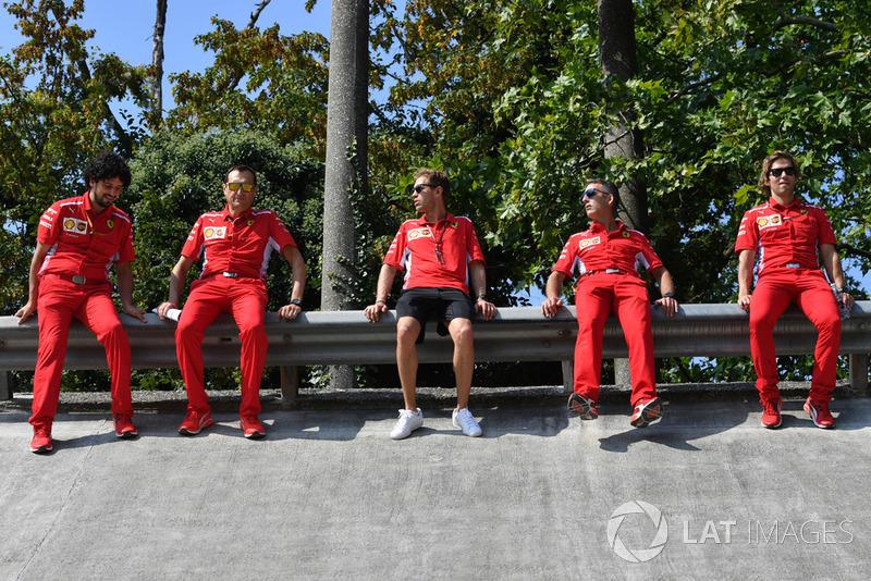 Sebastian Vettel, Ferrari sul banking di Monza