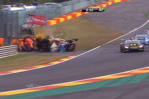 Авария в гонке SuperTrofeo Lamborghini в Спа