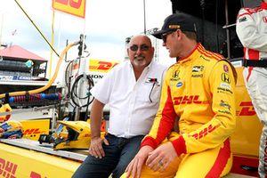 Ryan Hunter-Reay, Andretti Autosport Honda, mit Bobby Rahal