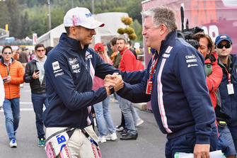 Esteban Ocon, Racing Point Force India F1 Team and Otmar Szafnauer Team Princapl Racing Point Force India F1 Team