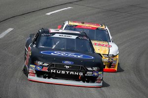 Ty Majeski, Roush Fenway Racing, Ford Mustang Ford and Cole Custer, Stewart-Haas Racing, Ford Mustang Go Bowling