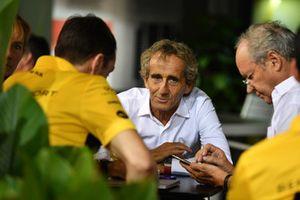 Alain Prost, conseiller spécial Renault Sport F1 Team et Jérôme Stoll, directeur de Renault Sport F1