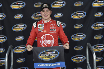 Christopher Bell, Kyle Busch Motorsports, Toyota Tundra Hunt Brothers Pizza, wins the pole at Bristol.