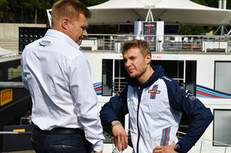 Mika Salo, and Sergey Sirotkin, Williams Racing