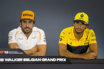 Fernando Alonso, McLaren and Carlos Sainz Jr., Renault Sport F1 Team in the Press Conference