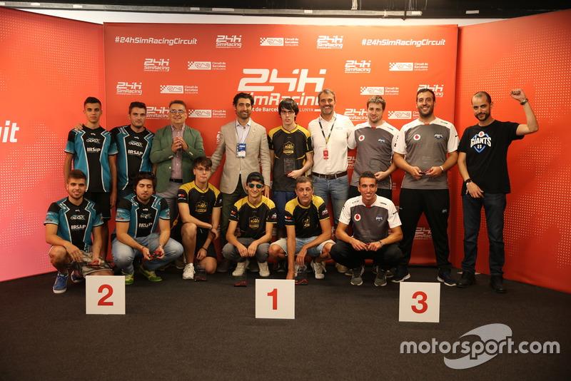 24h Sim Racing podio 2018