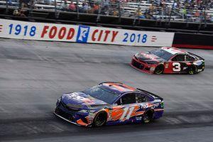 Denny Hamlin, Joe Gibbs Racing, Toyota Camry FedEx Freight and Austin Dillon, Richard Childress Racing, Chevrolet Camaro Dow NORKOOL