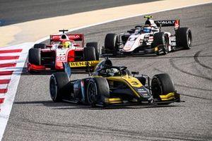 Guanyu Zhou, UNI-Virtuosi, Mick Schumacher, Prema Racing and Christian Lundgaard, ART Grand Prix