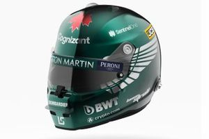 Helm van Lance Stroll, Aston Martin Racing