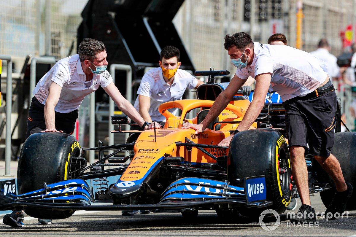 El coche de Daniel Ricciardo, McLaren MCL35M