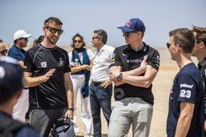 Jenson Button, JBXE Extreme-E Team, and Johan Kristoffersson, Rosberg X Racing