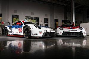 #911 Porsche GT Team Porsche 911 RSR: Frederic Makowiecki, Nick Tandy, Earl Bamber, #912 Porsche GT Team Porsche 911 RSR: Earl Bamber, Laurens Vanthoor, Neel Jani