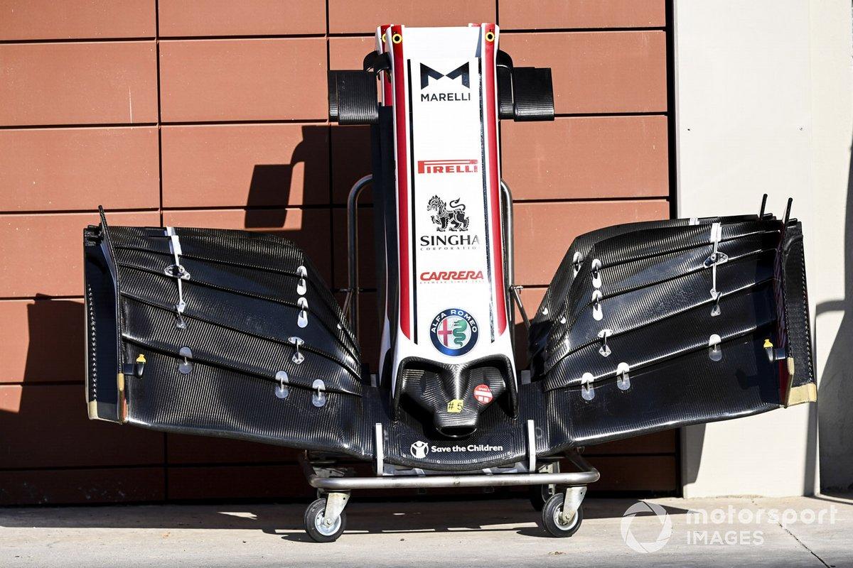 El alerón delantero del Alfa Romeo Racing C39