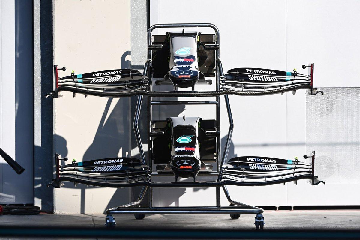 Alerón delantero del Mercedes F1 W11