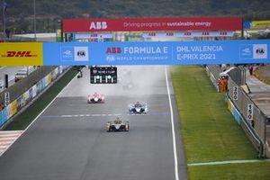 Antonio Felix Da Costa, DS Techeetah, DS E-Tense FE21 Maximilian Gunther, BMW i Andretti Motorsport, BMW iFE.21, Alex Lynn, Mahindra Racing, M7Electro