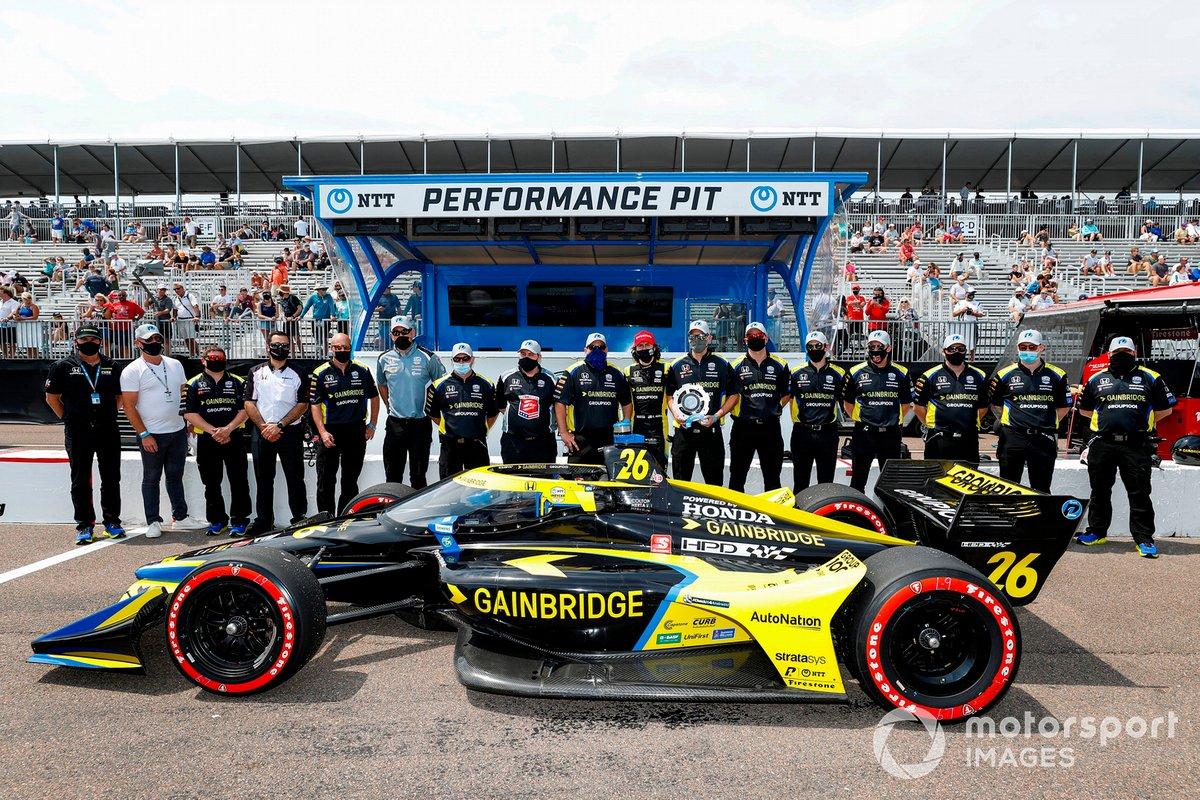 Ganador de la pole Colton Herta, Andretti Autosport Honda
