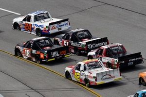 Raphael Lessard, GMS Racing, Chevrolet Silverado CANAC and Chandler Smith, Kyle Busch Motorsports, Toyota Tundra JBL