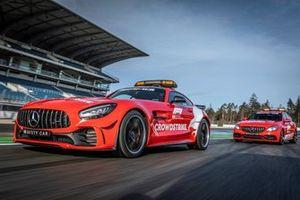 Mercedes-AMG GT-R FIA F1 Safety Car en Mercedes-AMG C 63 S Estate FIA F1 Medical Car