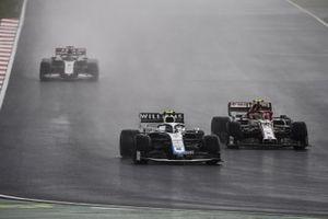 Nicholas Latifi, Williams FW43, Antonio Giovinazzi, Alfa Romeo Racing C39, and Romain Grosjean, Haas VF-20