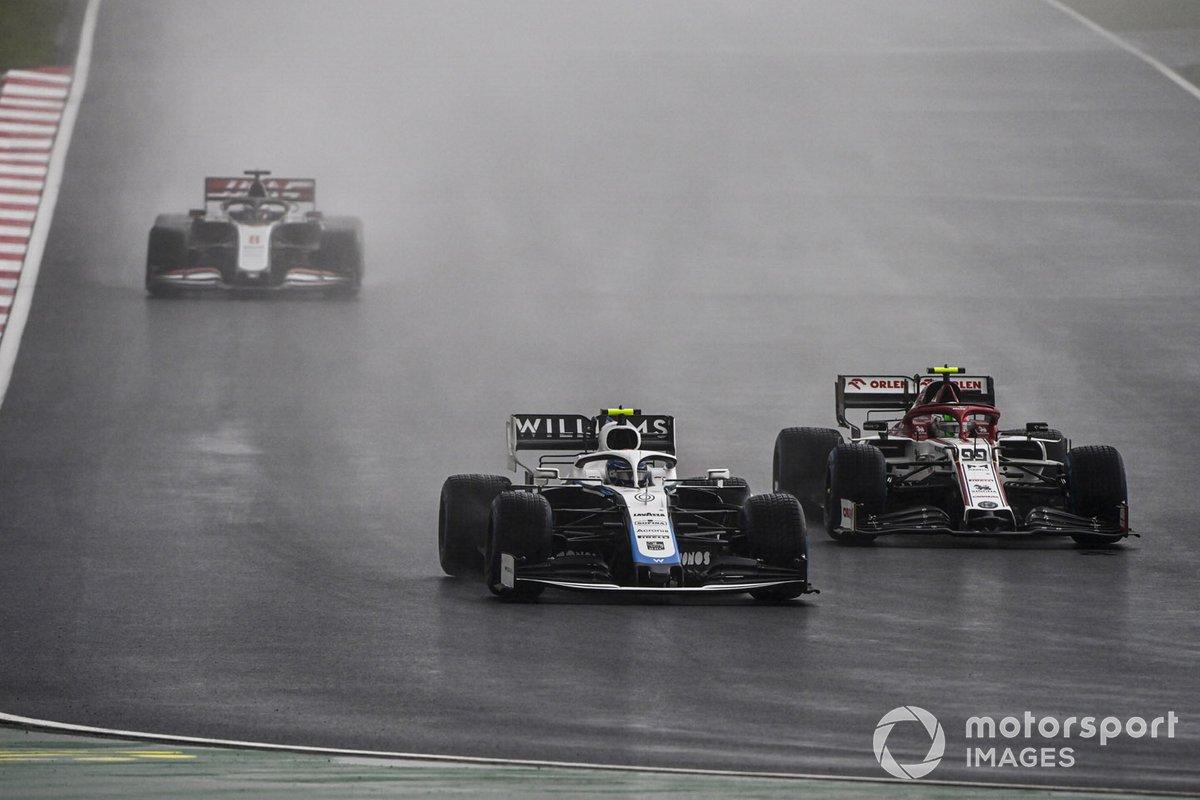 Nicholas Latifi, Williams FW43, Antonio Giovinazzi, Alfa Romeo Racing C39, Romain Grosjean, Haas VF-20