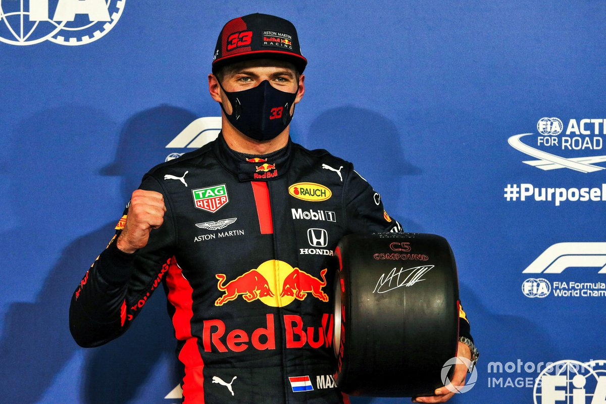 Max Verstappen, Red Bull Racing, con il Pole Position Award