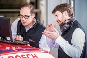 Bosch racing engineer on BMW racing car DTM