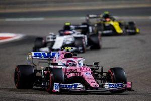 Lance Stroll, Racing Point RP20, Pierre Gasly, AlphaTauri AT01, and Esteban Ocon, Renault F1 Team R.S.20